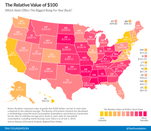 How much $1 worth in each state